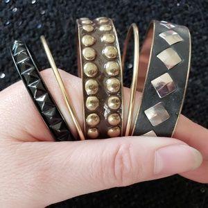 Jewelry - Set of 5 Mixed Bangle Bracelets